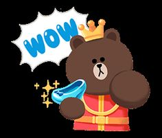 Cony Brown, Brown Bear, Bunny And Bear, Cute Love Cartoons, Brown Line, Line Friends, Line Store, Prince And Princess, Line Sticker