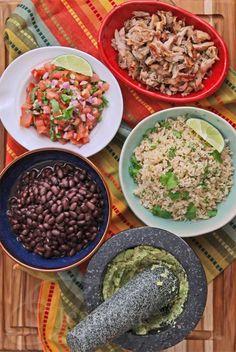 Chipotle Style Chicken Burrito Bowl © Jeanette's Healthy Living #Mexican #recipe