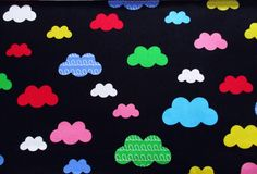 Cloud, Colorful Sky in the night, fancy fabric, Cloud, Rainbow Fabulous sky, kid dress, Shower Curtain, Baby shower, Pillow Cover, CT647 by PeacyFabrics on Etsy https://www.etsy.com/listing/539429563/cloud-colorful-sky-in-the-night-fancy