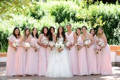 AN INTERTWINED EVENT: CHARMING PINK WEDDING AT RANCHO LAS LOMAS | Intertwined Weddings & Events | Gavin Wade Photography  Bride, Bouquet, Bridal Inspiration, Bridesmaids