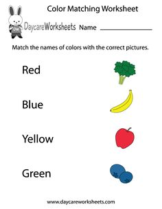 79 Best Pre K Color Worksheets Activities Images Color Activities Pre-K Colors Practice Worksheets Easily Print Our Color Matching Worksheet Directly In Your Browser It Is A Free Preschool Learning Worksheet