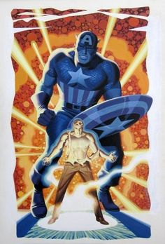 Captain America - Steve Rogers by Steve Rude Marvel Comics, Dc Comics Art, Marvel Heroes, Marvel Avengers, Jack Kirby, Comic Book Superheroes, Comic Books Art, Comic Art, Book Art