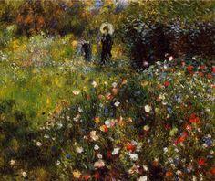 Tableaux sur toile, reproduction de Renoir, Paysage d'été
