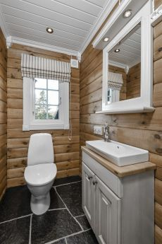 Cabin Homes, Log Homes, Home Design, Log Cabin Bathrooms, Rustic Bathroom Vanities, Rustic Vanity, Cabin Interiors, Wooden House, House Plans