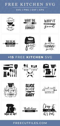 Cricut Tutorials, Cricut Ideas, Kitchen Sayings, Kitchen Canvas, Cricut Explore Projects, Cricut Svg Files Free, Cricut Craft Room, Circuit Projects, Cricut Creations