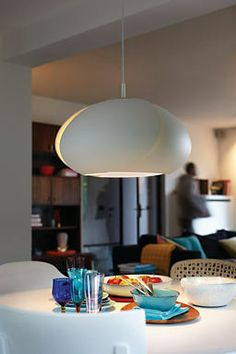 Want the right light to help you focus? Place the lowest part inches from the surface. Philips, Light Table, Dinner Table, Chandelier, Pendant Lamps, Pendants, Tulip, Ceiling Lights, Led