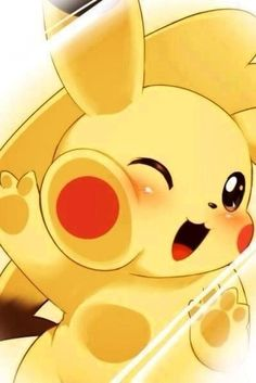 Pikachu runs into a glass window, now he look like he's crammed into my phone! So cute :3