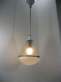 Original SIEMENS & SCHUCKERT Pendelleuchte Peter Behrens 20er Bauhaus Lampe