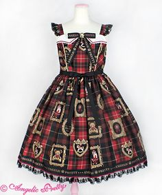 """""""Holiday Collection""""  Cut: Jumperskirt (JSK) Color: Red  Brand: Angelic Pretty"""