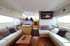 GAFFE is a luxury motor yacht available for charter in Italy, Naples, Sicily, built in Luxury accommodation is for 9 guests in 4 cabins! Book a yacht charter now with Contact Yachts! Motor Yacht, Luxury Accommodation, Yachts, Naples, Sicily, Bunk Beds, Cabin, Sea, Vacation