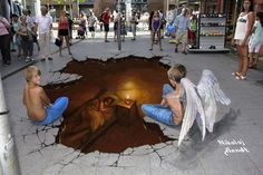 These magical 3D sidewalk murals are so astounding they practically come to life.