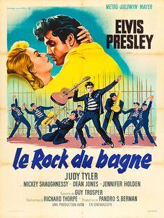 Póster oficial para #Francia de #JailhouseRock (1957).