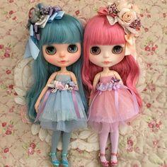 尼龍繩頭髮雙子🙄🙄 Pullip Custom, Custom Dolls, Pretty Dolls, Beautiful Dolls, Ooak Dolls, Blythe Dolls, Custom Monster High Dolls, Smart Doll, Little Doll