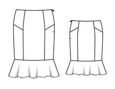Юбка - выкройка № 104 из журнала 3/2014 Burda – выкройки юбок на Burdastyle.ru