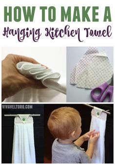 No more picking up dish towels off the floor! We'll show you how to make hanging kitchen towels. It's easy and they're fun to make.