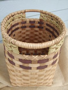 Rectangle Laundry Lugger woven in brown -  via Etsy.