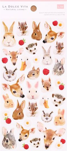 kawaii forest animal rabbit deer stickers by Mind Wave 2