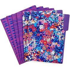 Vera Bradley File Folders in Impressionista ($14) ❤ liked on Polyvore featuring accessories, impressionista and new arrivals