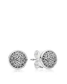 """Pandora Earrings - Sterling Silver & Cubic Zirconia Dazzling Studs 