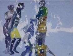 Festivity of water Art Print Oil On Canvas, Canvas Art, Original Art, Original Paintings, Art Oil, Buy Art, Modern Art, Saatchi Art, White Girls
