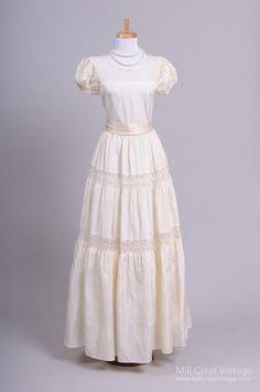 1940 Peasant Lace Vintage Wedding Gown - Mill Crest Vintage