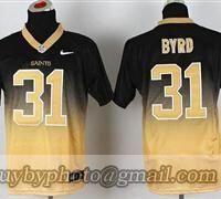 Nike NFL Men New New Orleans Saints  31 Jairus Byrd Black-Gold Fadeaway  Fashion b4e076411