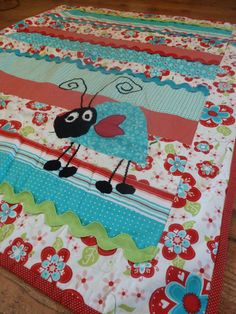 Baby Girl Quilt by IdahoGrandmasQuilts on Etsy, $65.00