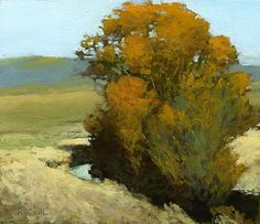 Valley Near Helena, 6 x 7 inches, oil on panel. Marc Bohne