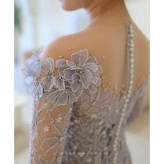 Weather forecast for today: Grey . Sister of the bride : . Weather forecast for today: Grey . Sister of the bride : . Couture Embroidery, Beaded Embroidery, Embroidery Ideas, Pretty Dresses, Beautiful Dresses, Kebaya Dress, Kebaya Brokat, Dress Brokat, Bride Sister