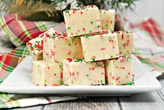 Easy-to-make, Sugar cookie Christmas fudge is a combo of two of my favorite treats: Christmas sugar cookies and fudge. Try making a batch this Christmas! Maria Cookies Recipe, Berger Cookie Recipe, Anise Cookie Recipe, Best Shortbread Cookie Recipe, Vanilla Cookie Recipe, Easy Cookie Recipes, Fudge Recipes, Candy Recipes