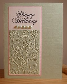 Happy birthday embossed card