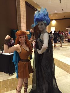 Disney Cosplay Gender-swapped Hercules and Hades - - More memes, funny videos and pics on Disney Cosplay, Disney Costumes, Cool Costumes, Cosplay Costumes, Costume Ideas, Couples Cosplay, Hades Costume, Hercules Costume, Hades Disney