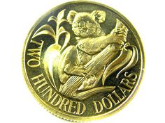 1985 UNCIRCULATED $200 GOLD COIN CO 470