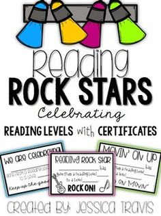 Reading Certificates {Celebrating Reading Levels} by Jessica Travis Ar Reading, Reading Goals, Reading Centers, Reading Fluency, Reading Levels, Reading Strategies, Teaching Reading, Guided Reading, Stars Classroom