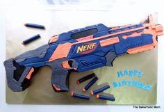 Nerf Gun cake https://www.facebook.com/thebakeaholicmom/photos/a.599978910078972.1073741827.232560456820821/960750520668474/?type=3&theater