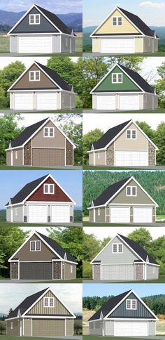 24x36 2Car Garages  PDF Floor Plans  1344 by ExcellentFloorPlans, $29.99
