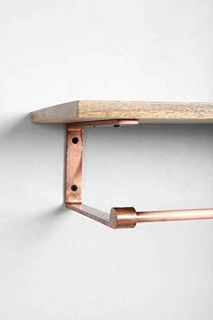 4040 Locust Copper Wood Coat Rack Shelf