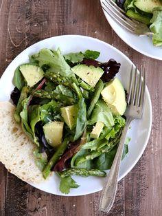 Roasted Asparagus and Avocado Salad with Lemon Vinaigrette | completelydelicious.com