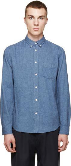 Acne Studios Blue Flannel Isherwood Shirt