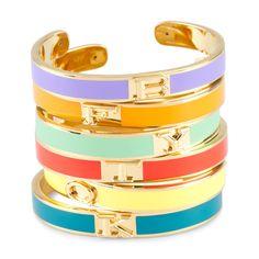 Colorful Initial Cuffs
