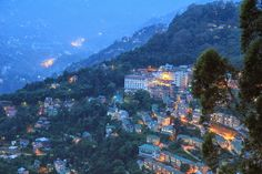 Gangtok in Sikkim during Dusk.