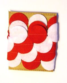 Peppermint Christmas Garland Red and White Felt by heartFeltbyA, $7.00