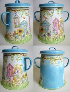 Spring Is Here, Decor Crafts, Home Decor, Decoupage, Mugs, Tableware, Projects, Handmade, Diy