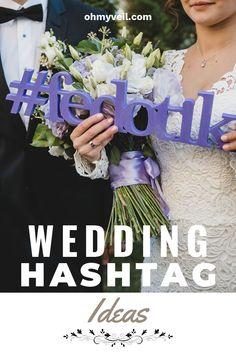 Wedding Hashtag Ideas ~ Oh My Veil-all things wedding-ideas, tips, and tricks Softball Wedding, Basketball Wedding, Golf Wedding, Wedding Guest List, Wedding Blog, Lace Wedding, Wedding Dresses, Wedding Planning On A Budget, Wedding Planning Timeline