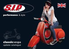 """SIP Vespa Classic Highlights 2010: Hot as asphalt in the sun: the brandnew SIP classic vespa highlight brochure. 50 pages full of sexy stuff from SERIE PRO, QUATTRINI, FALC, MALOSSI etc. Also including an exclusive feature of our latest Custom project """"Glorious Basterd""""."""