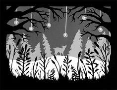 Cold Winter's Night - Cut Paper Art by ruralpearl, via Flickr