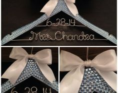 bling personalized hangers - Google Search