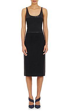 Narciso Rodriguez Mixed-Media Sheath Dress - Mid - Barneys.com