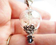 Dandelion Wishing Orb Necklace!