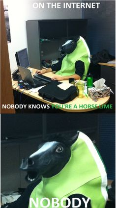 On the Internet, Nobody Knows You're a Horse Lime